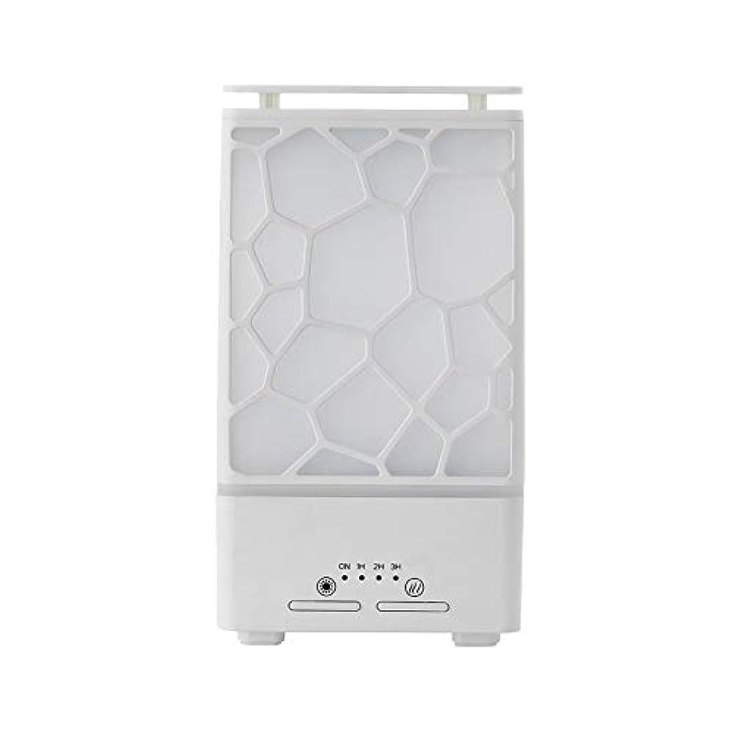 精神医学不規則な卵yanQxIzbiu Essential Oil Diffuser Geometric Plaid Aroma Essential Oil Diffuser Home Office LED Lights Humidifier...