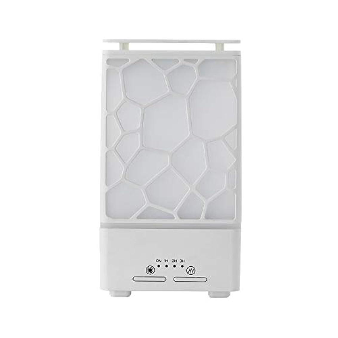 テスピアン救いルビーyanQxIzbiu Essential Oil Diffuser Geometric Plaid Aroma Essential Oil Diffuser Home Office LED Lights Humidifier...