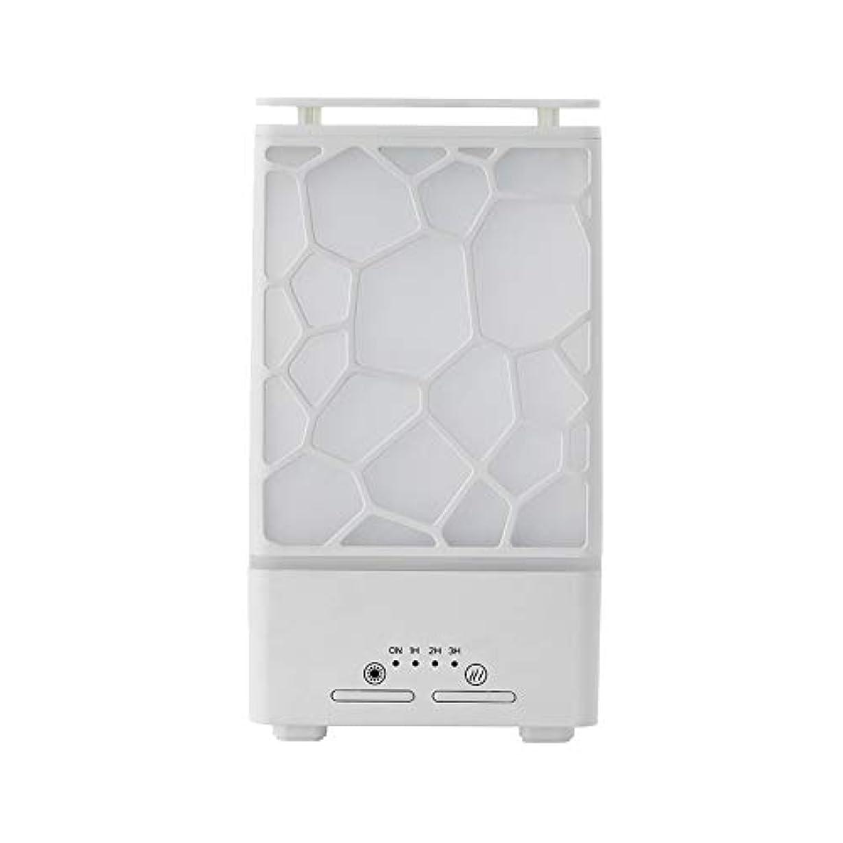 フリル蛾剛性yanQxIzbiu Essential Oil Diffuser Geometric Plaid Aroma Essential Oil Diffuser Home Office LED Lights Humidifier...