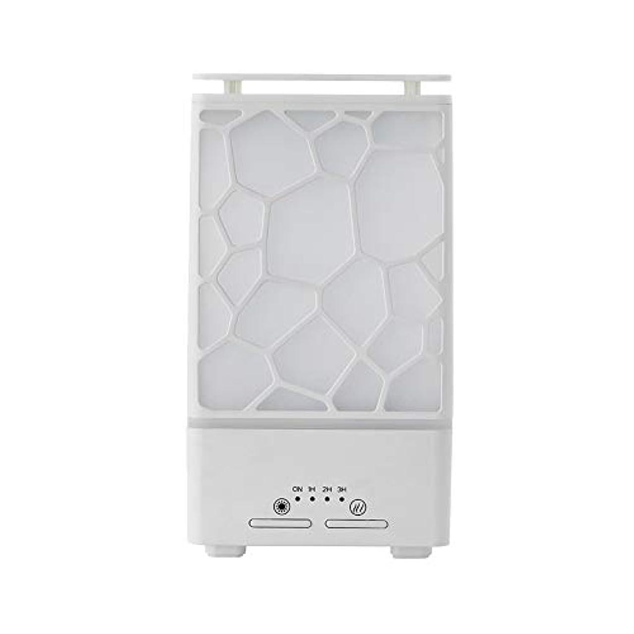 職業捨てるカタログyanQxIzbiu Essential Oil Diffuser Geometric Plaid Aroma Essential Oil Diffuser Home Office LED Lights Humidifier...