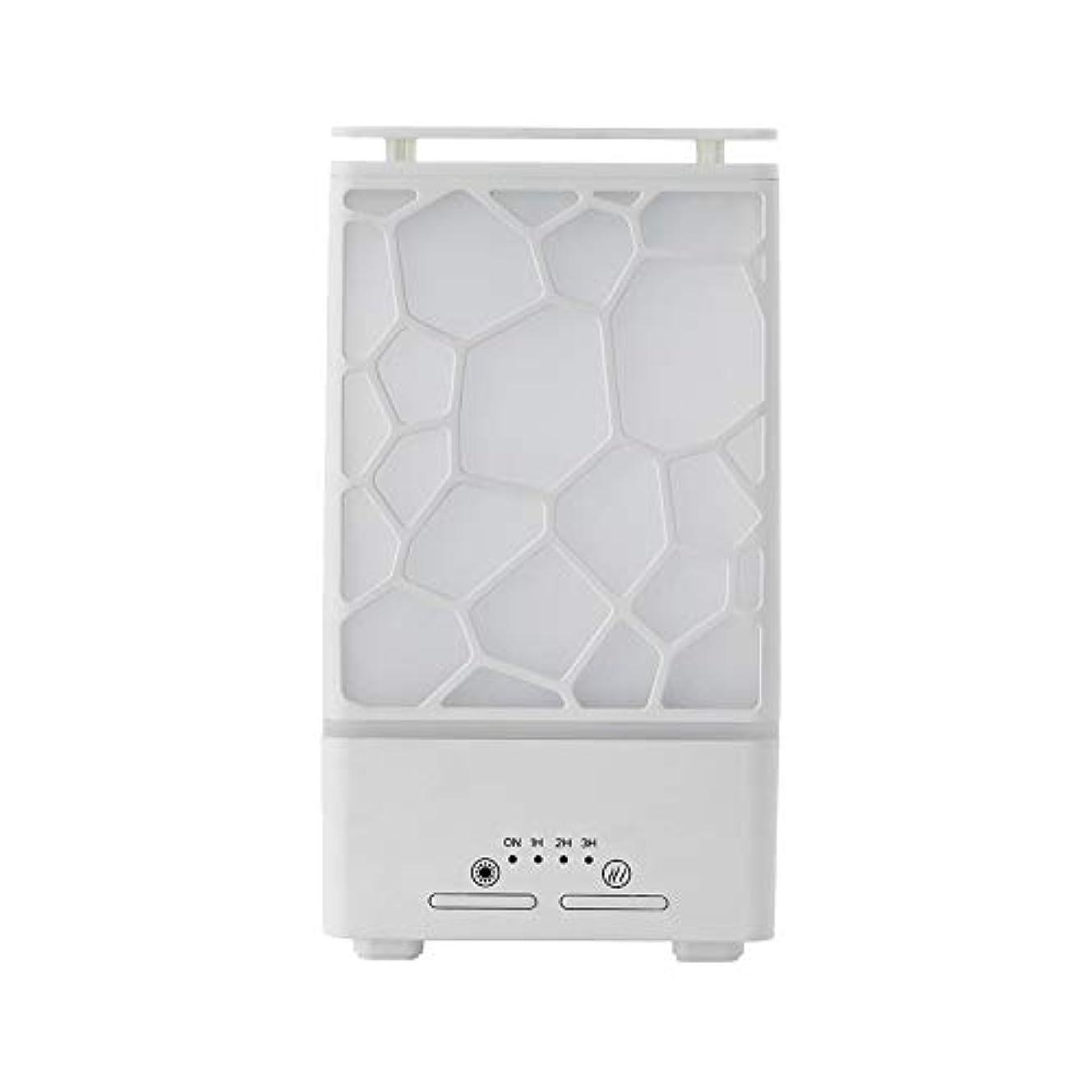 独裁者それむちゃくちゃyanQxIzbiu Essential Oil Diffuser Geometric Plaid Aroma Essential Oil Diffuser Home Office LED Lights Humidifier...