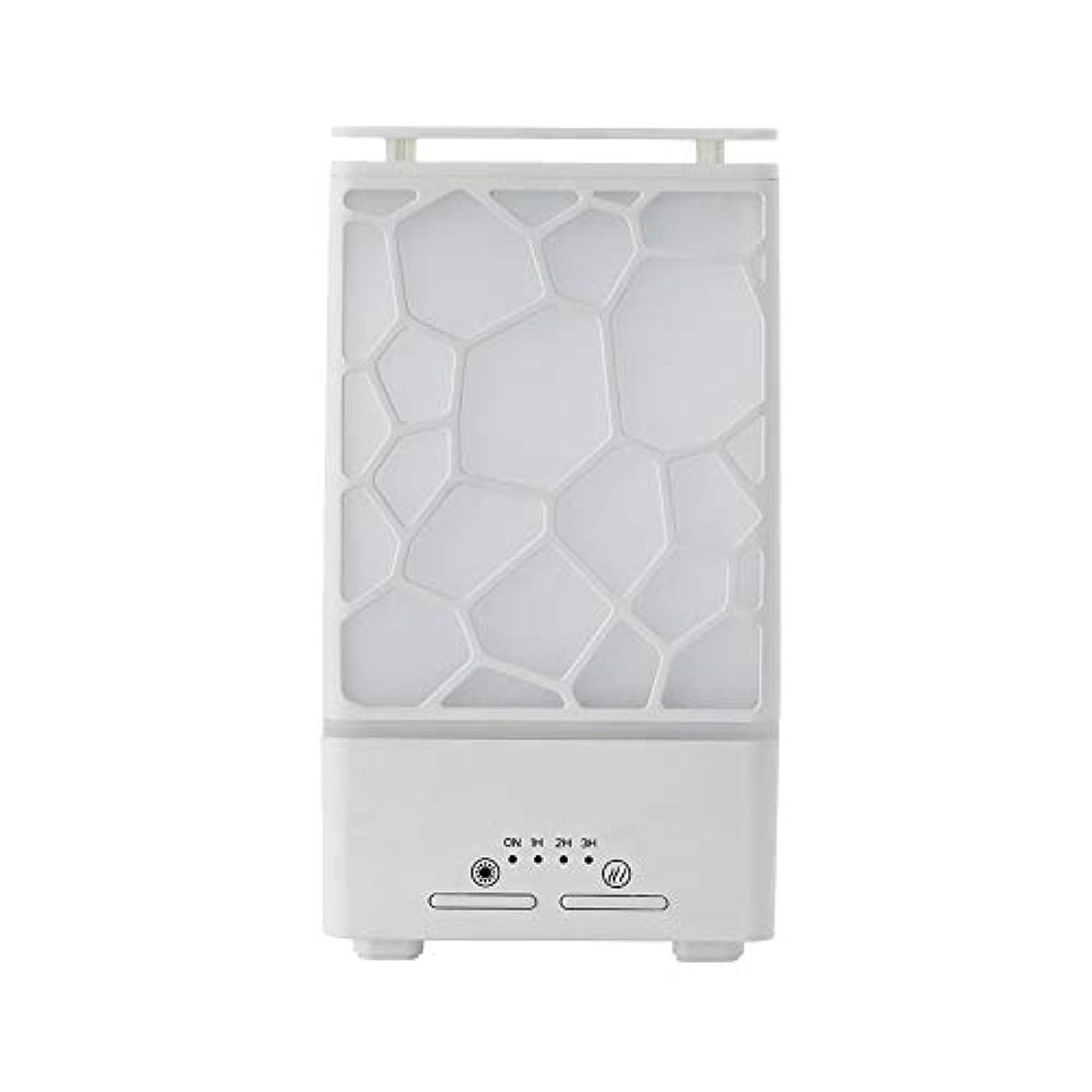 望みテンション分析的yanQxIzbiu Essential Oil Diffuser Geometric Plaid Aroma Essential Oil Diffuser Home Office LED Lights Humidifier...