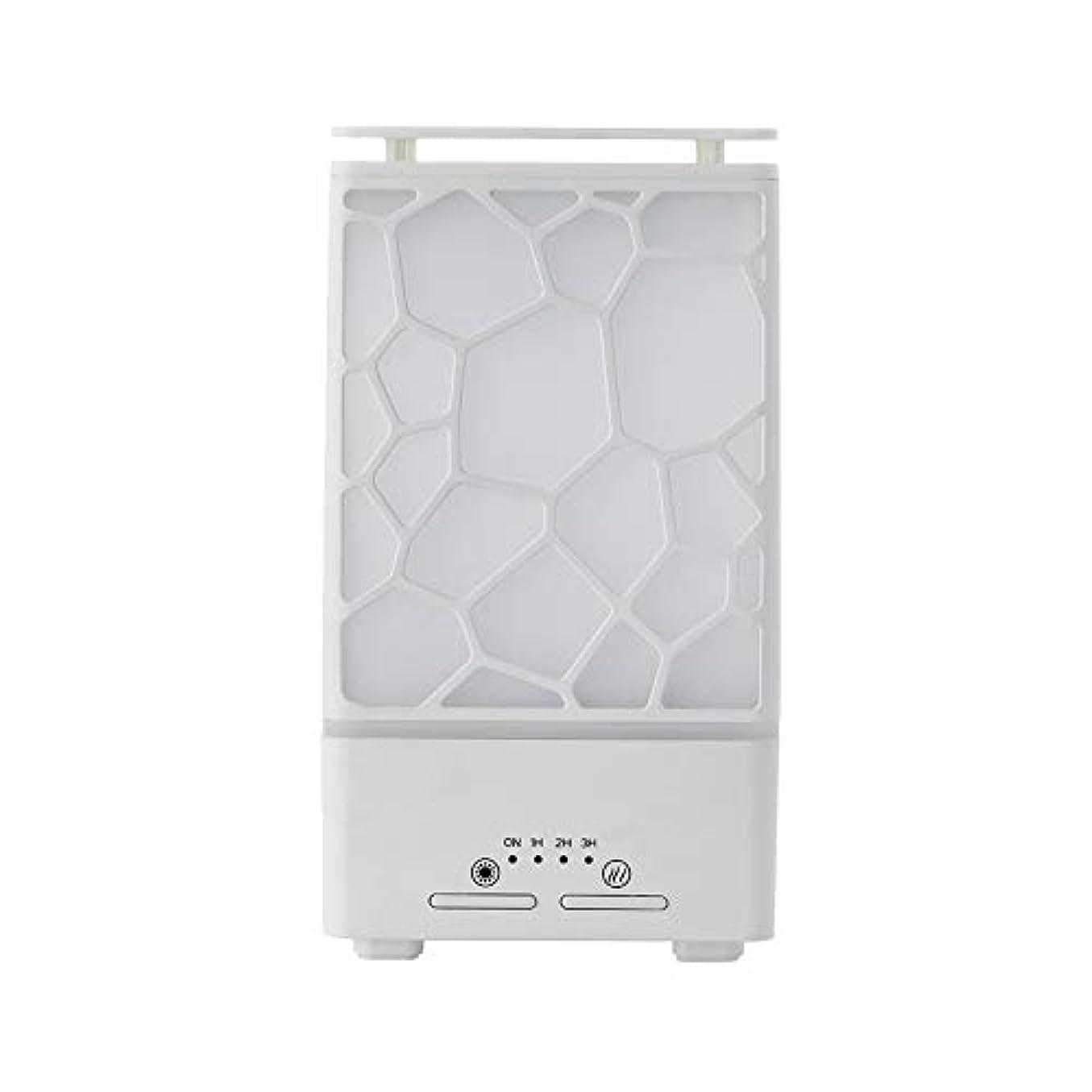 徹底的に安心安心yanQxIzbiu Essential Oil Diffuser Geometric Plaid Aroma Essential Oil Diffuser Home Office LED Lights Humidifier...