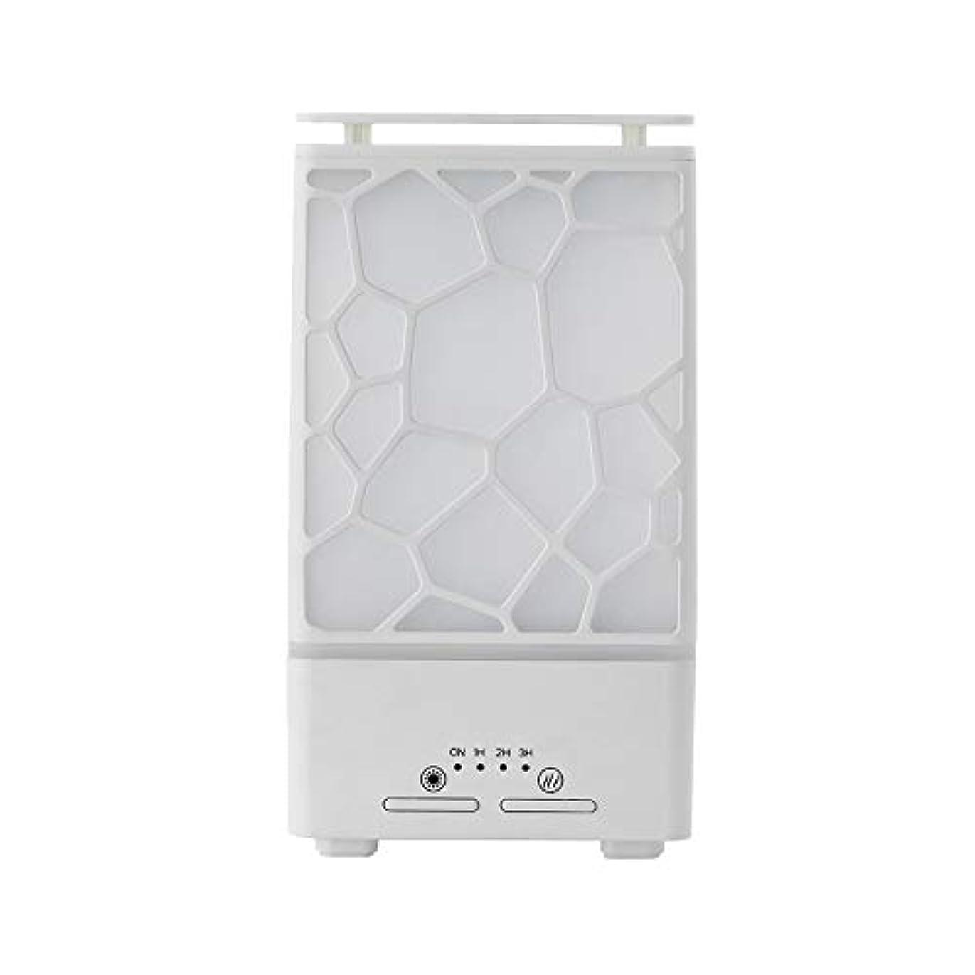 幻想危険な抗議yanQxIzbiu Essential Oil Diffuser Geometric Plaid Aroma Essential Oil Diffuser Home Office LED Lights Humidifier...