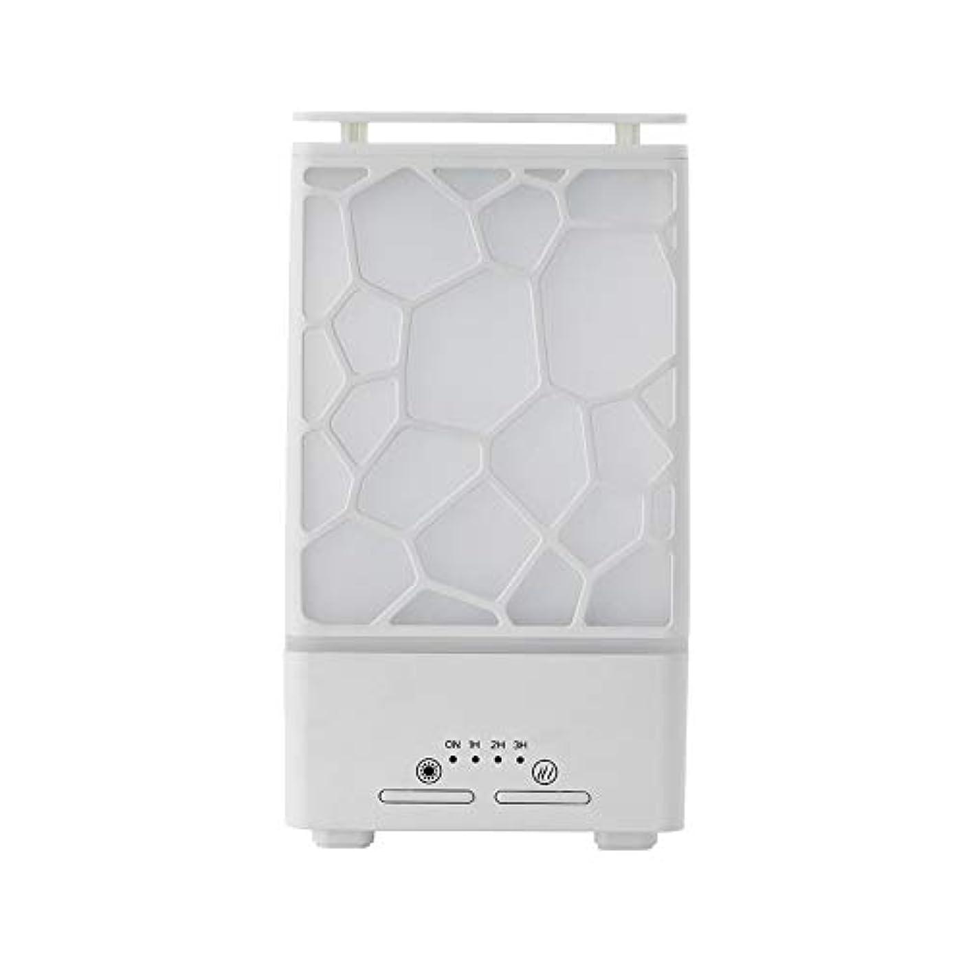 ダイエットフレキシブル見かけ上yanQxIzbiu Essential Oil Diffuser Geometric Plaid Aroma Essential Oil Diffuser Home Office LED Lights Humidifier...