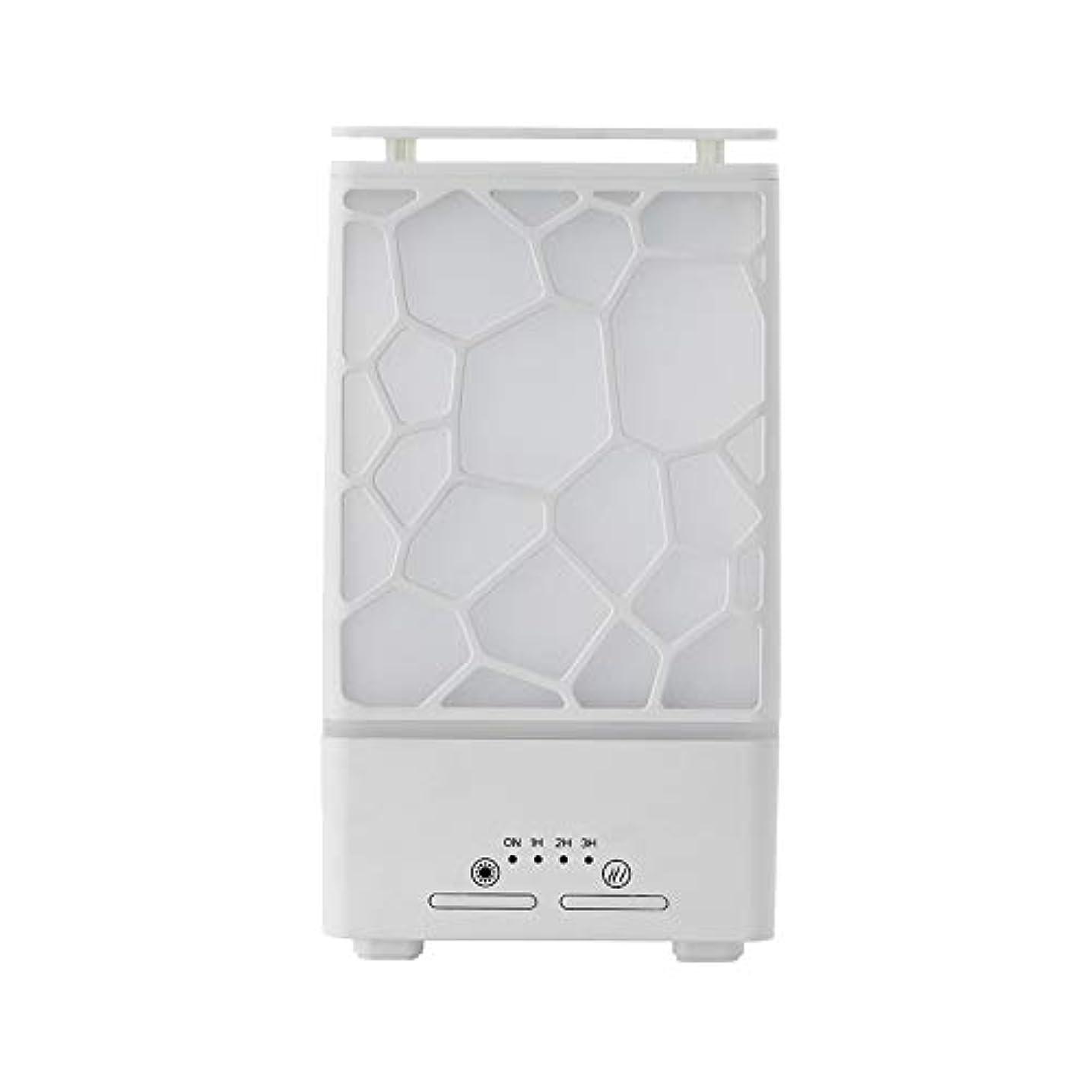 屋内動機付ける押すyanQxIzbiu Essential Oil Diffuser Geometric Plaid Aroma Essential Oil Diffuser Home Office LED Lights Humidifier...