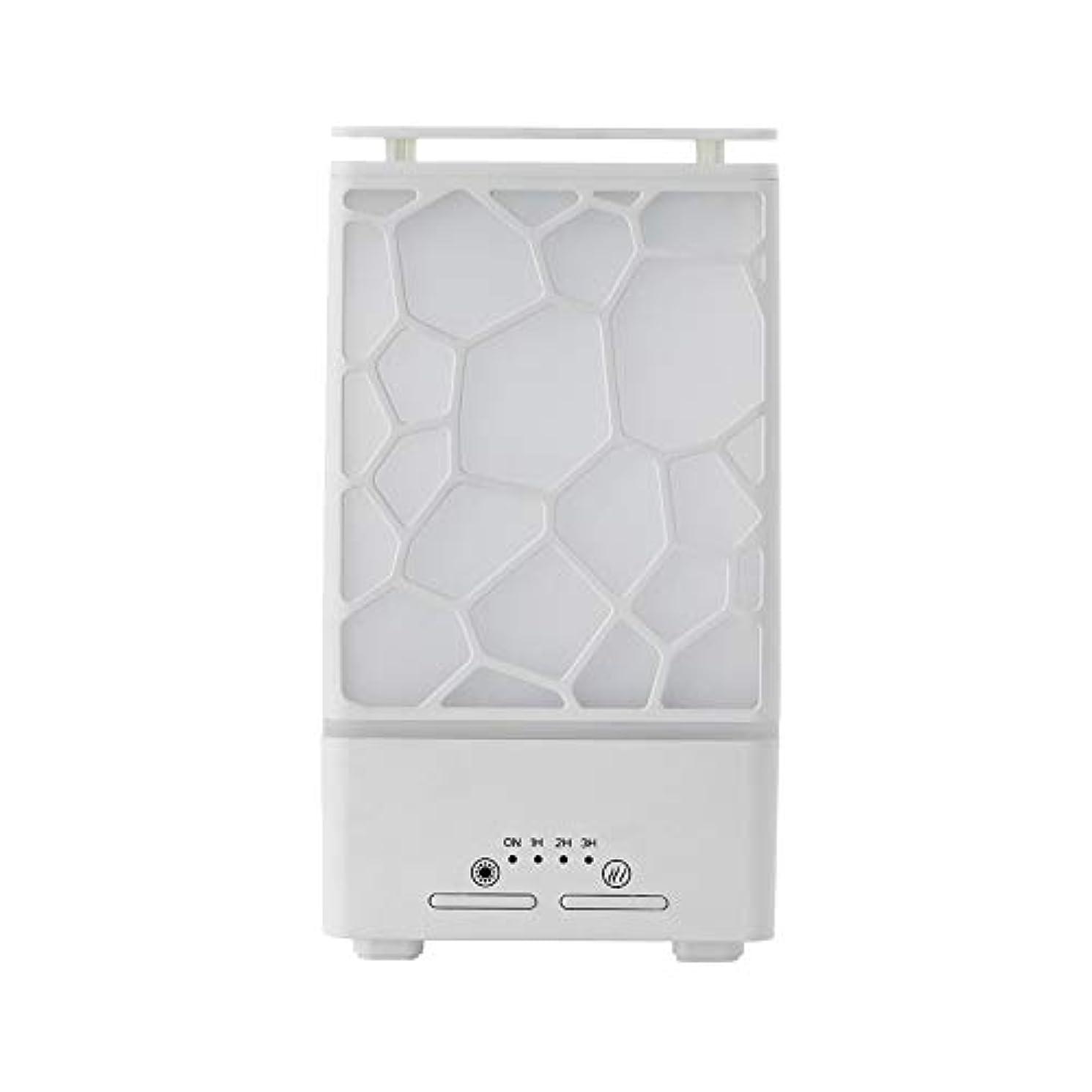 宿題厳密にロープyanQxIzbiu Essential Oil Diffuser Geometric Plaid Aroma Essential Oil Diffuser Home Office LED Lights Humidifier...