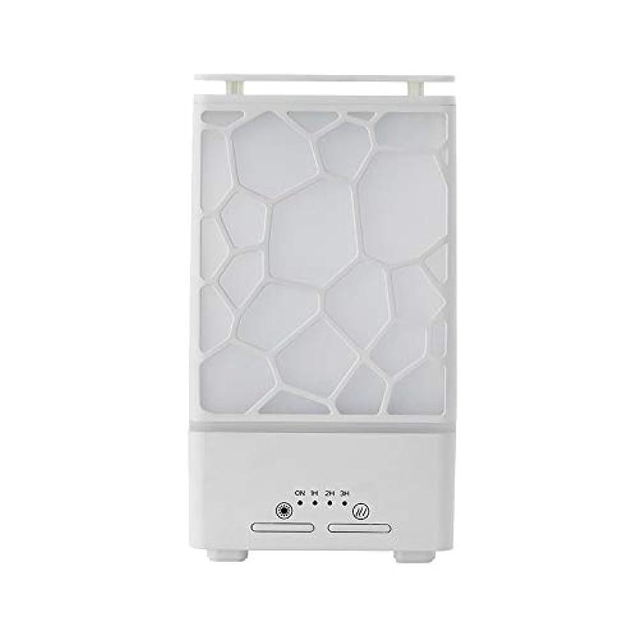 がっかりした雰囲気是正yanQxIzbiu Essential Oil Diffuser Geometric Plaid Aroma Essential Oil Diffuser Home Office LED Lights Humidifier...