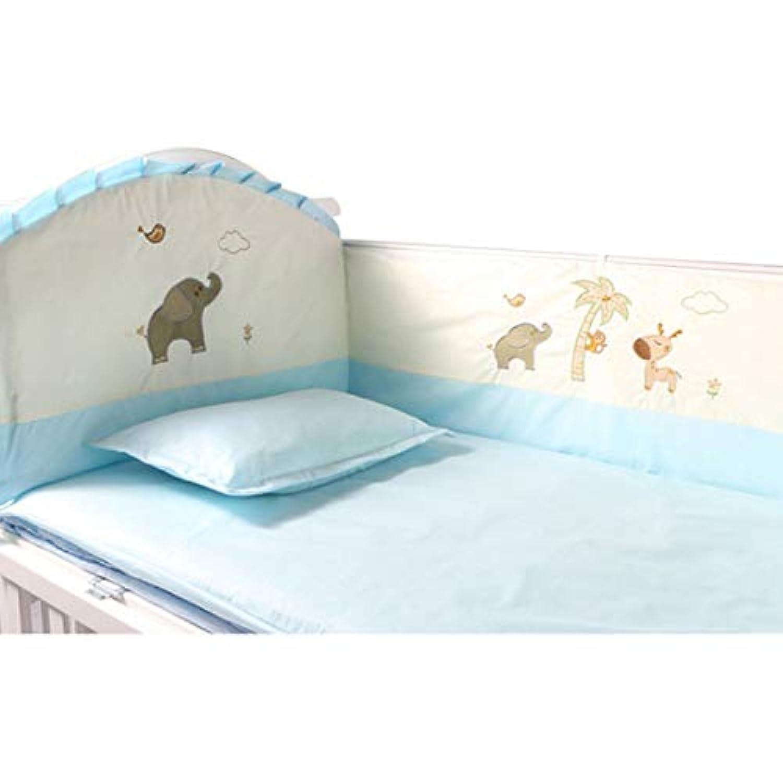 Yuena Care ベッドバンパー 赤ちゃん ミニ ベビー ベッド ガード ベッドガード 綿 枕付き ぶつかり防止 出産お祝い