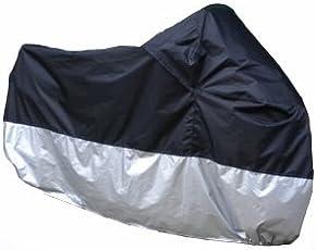 【ノーブランド】 ビックバイク/ビックスクーター 防水/防塵/防太陽光 シルバー保護カバー 3XL(XXXL)  P-51
