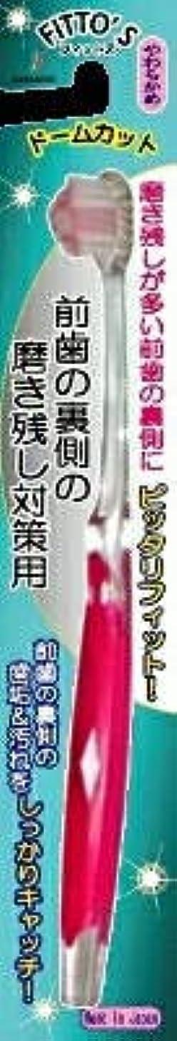 会話平等顕現【まとめ買い】前歯の裏側の磨き残し対策用 フィットス やわらかめ ×6個