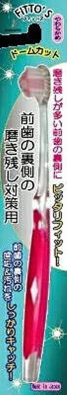 錆びレジデンス内向き【まとめ買い】前歯の裏側の磨き残し対策用 フィットス やわらかめ ×6個