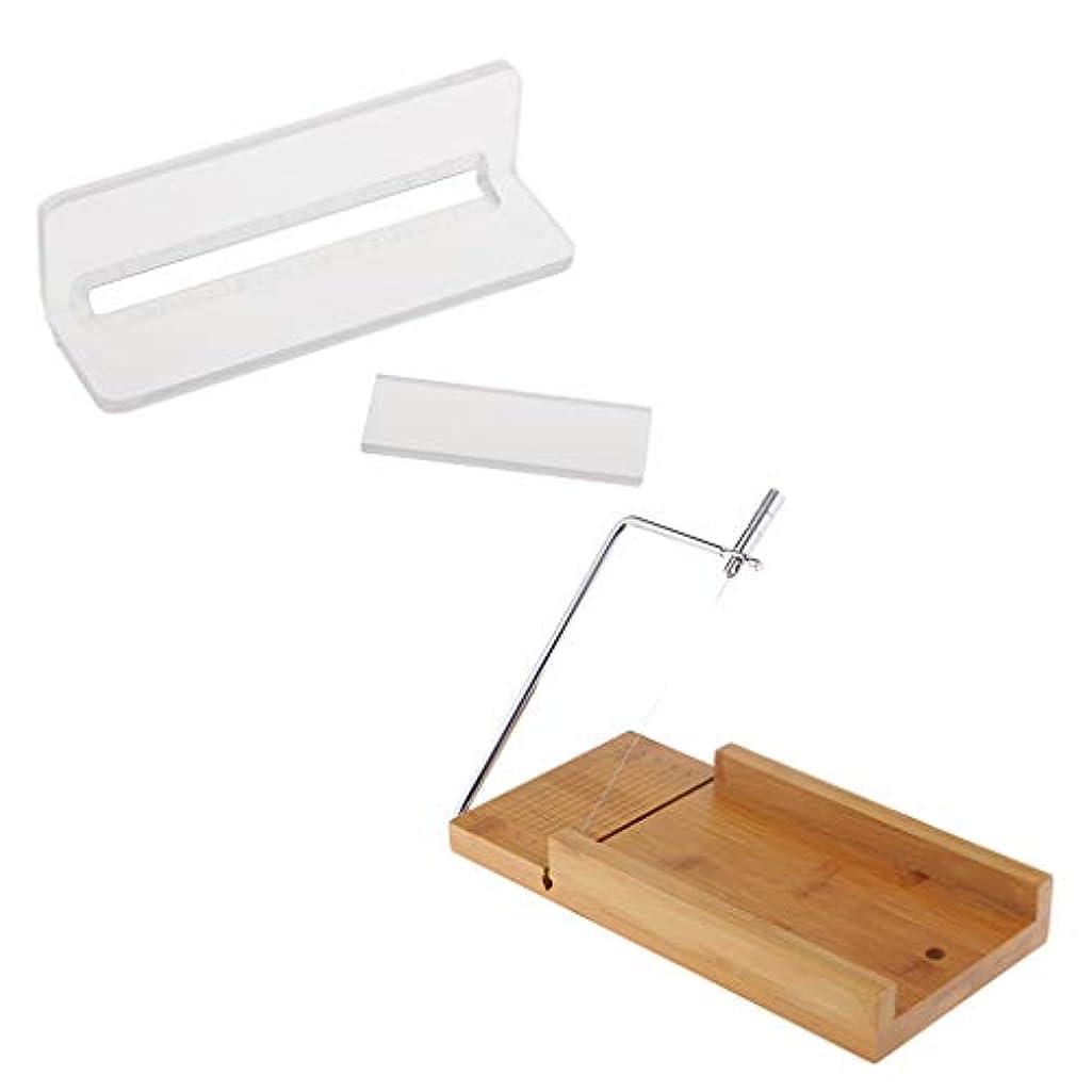 借りる線形結び目ソープカッター 木製 石鹸カッター ローフカッター チーズナイフ 2個入り