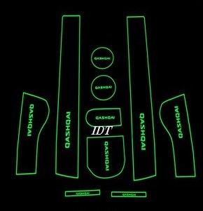 【ミニウエス付】日産 J10 デュアリス 専用設計 白(蓄光) 欧州QASHQAI 仕様 インテリア インナー ノンスリップマット ドア ポケット ドリンクホルダー 滑り止め