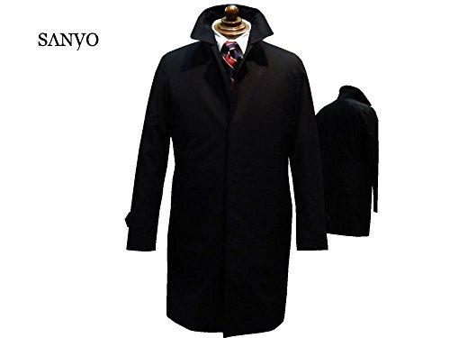(サンヨー) SANYO 綿ステンカラー ハーフコート P1A37609 (M, ブラック)