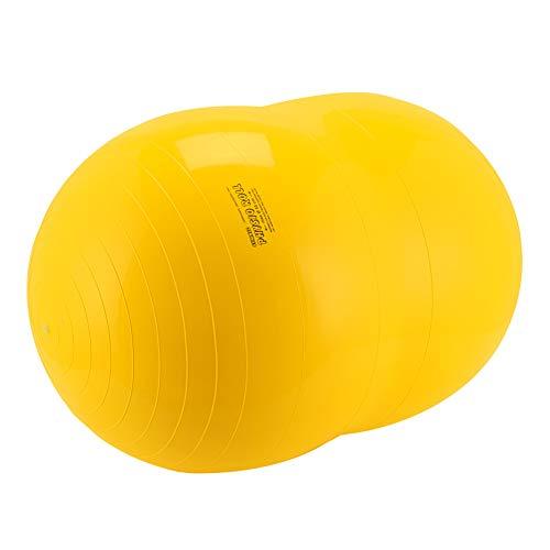 [ ギムニク ] Gymnic バランスボール 55cm ピーナッツ型 フィジオロール 55 88.02 イエロー Physio Roll 55 Yellow ピーナッツボール ヨガボール 体幹 バランス トレーニング [並行輸入品]