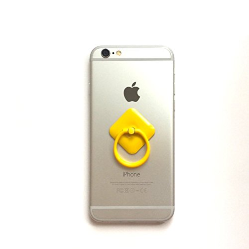 No Brand スマホ スマートフォン 落下防止 リング スタンド (Yellow)