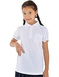 小学生 パフスリーブポロシャツ 半袖 制服 丸衿 幼稚園 スクールポロ