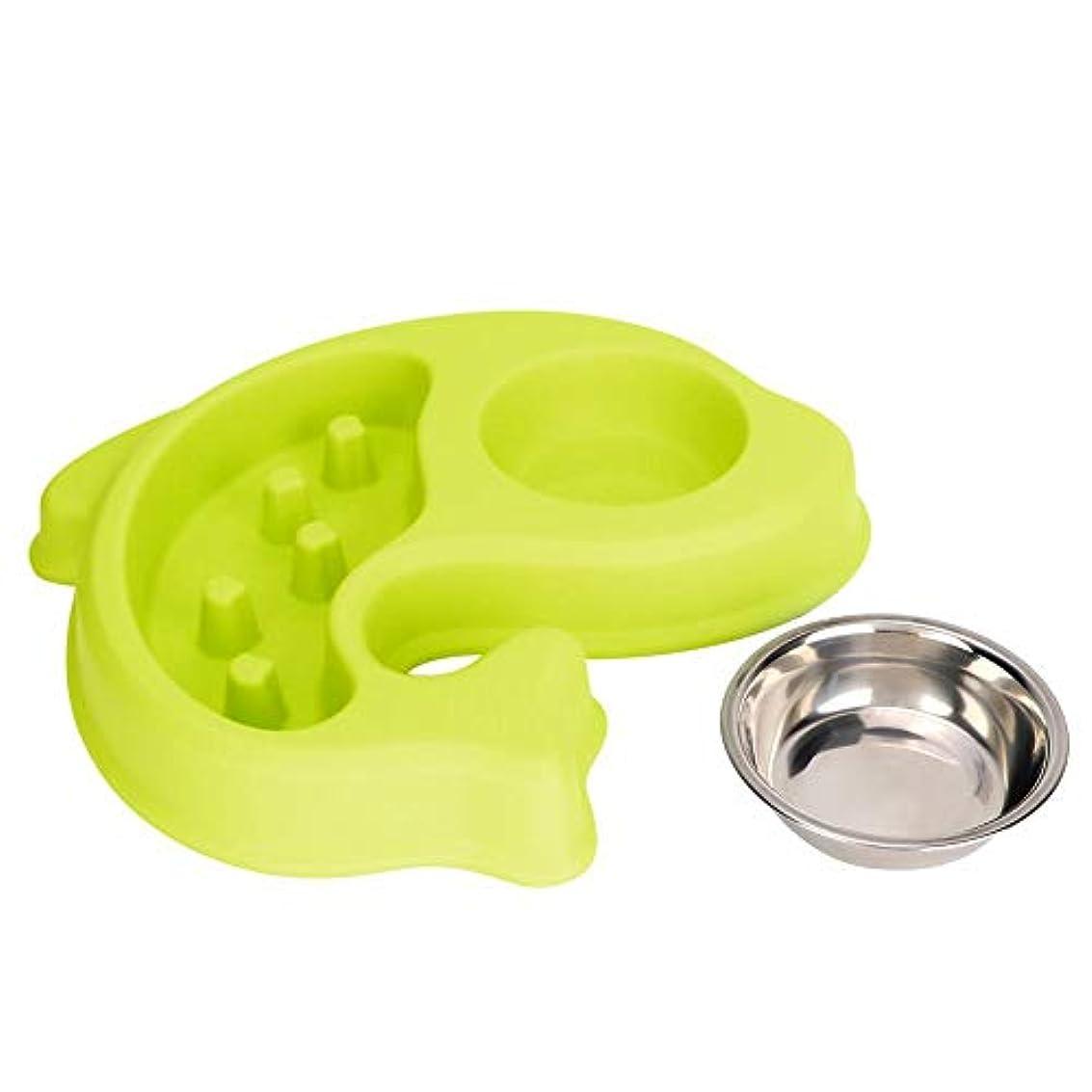 Pssopp ペットボウル 犬 猫用食器 犬ボウル ウォーター フード ボウル 犬猫用 餌いれ 猫食器 ペット食事ボウル えさ入れ ごはん皿 お水入れ 猫 犬 滑り止め ご飯 水 お餌 入れ 食器 (グリーン)