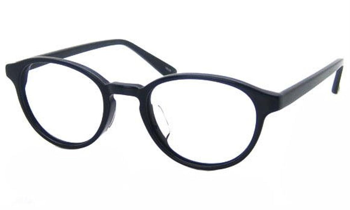 老眼鏡 ボストンブルーライトカット シニアグラス (ブラック, 度数:+3.5)