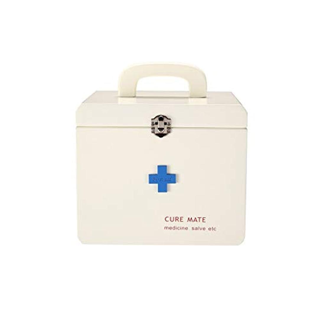 交換可能リンス不正木の薬箱世帯の大きい救急箱の健康箱の薬の収納箱の二層の医療箱 CQQO