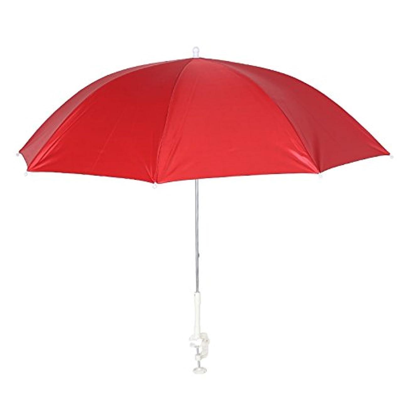 教育者ペルー止まるダルトン Clamp umbrella 日除けパラソル 喫煙スペース 屋外収納などに H855-948 Red