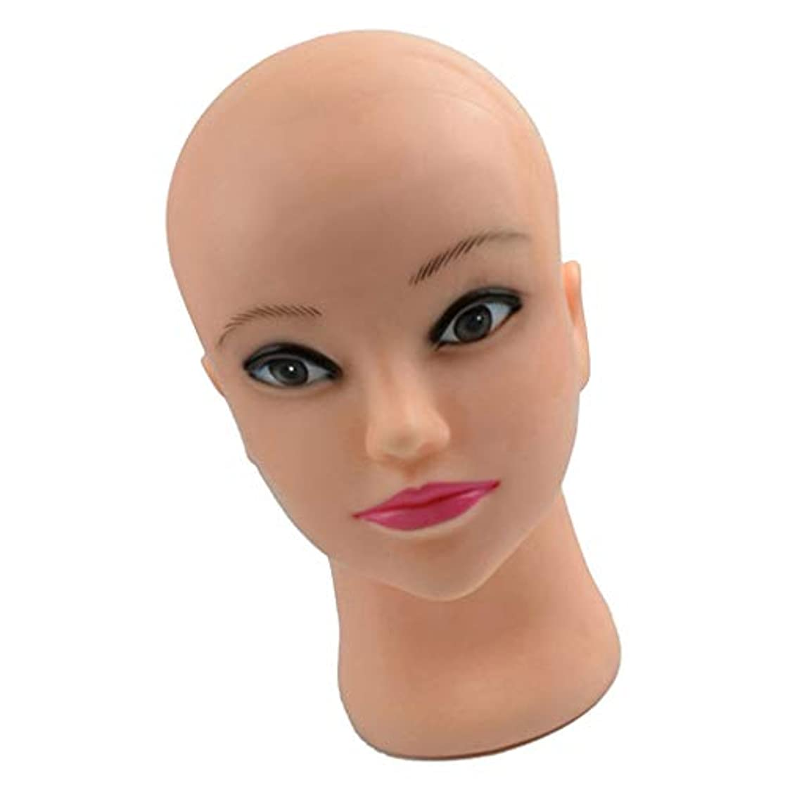 壁死んでいる刺激するPerfeclan マネキンヘッド メイク 化粧練習 シリコーン メイク練習用 モデル 美容室用 トレーニングに
