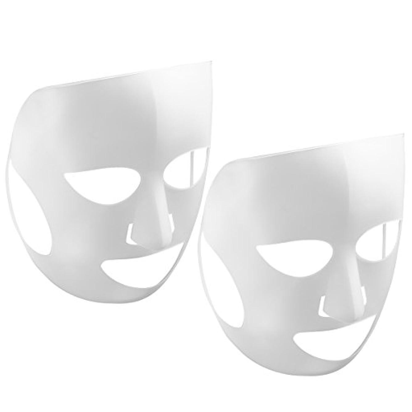 蒸発防止保湿マスクLurrose 5PCS再利用可能シリコンマスクカバー(ホワイト)