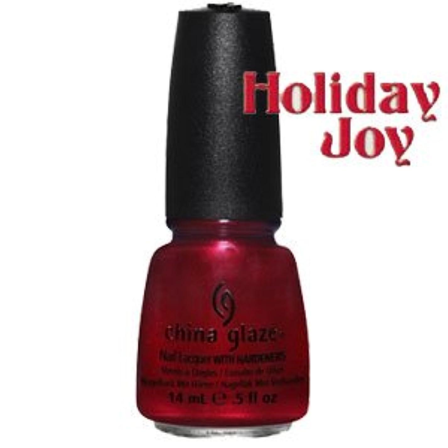 ストロー厚くするカジュアル(チャイナグレイズ)China Glaze Cranberry Splashー'12Holiday Joy コレクション [海外直送品][並行輸入品]