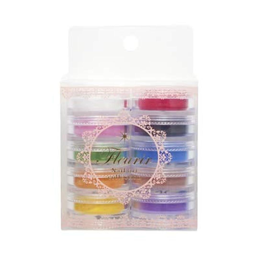 日常的に瞑想的実際のフルーリア カラーパウダー 10色キット ベーシックタイプ