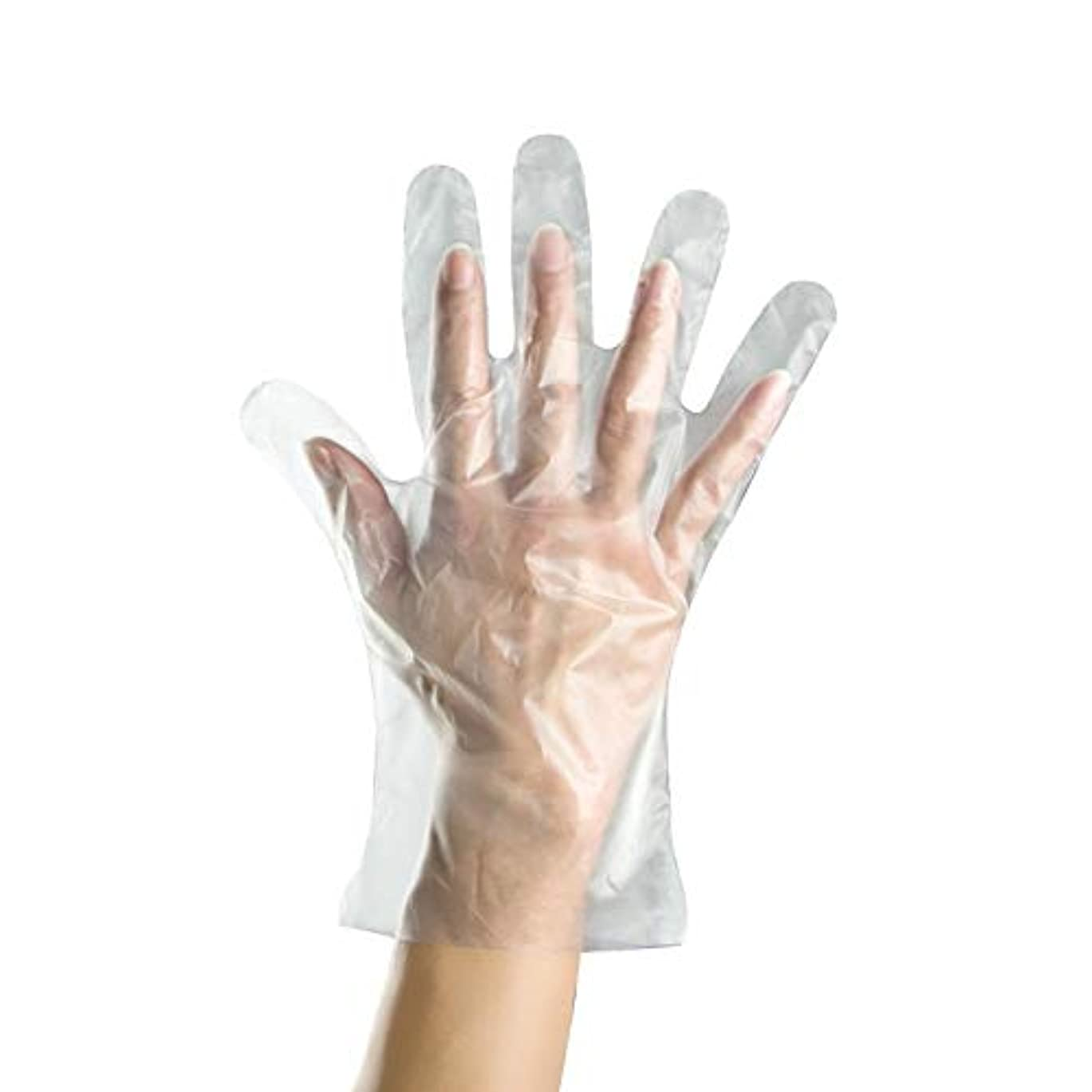 1000のみ使い捨てプラスチックPEフィルム手袋 - 医療、食品衛生、美容院、家庭用手袋などに適しています YANW