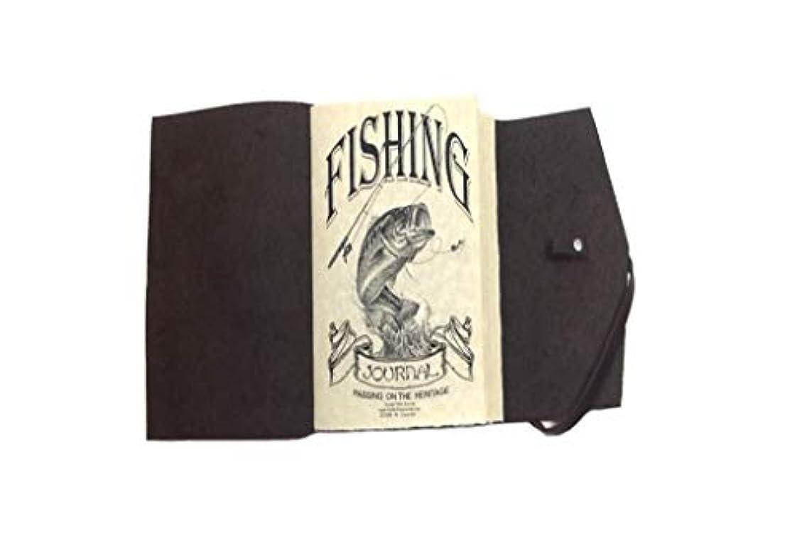 コンチネンタル溶かす徴収Fly Fishingフィールドジャーナル、レザー素朴なハンドメイド、