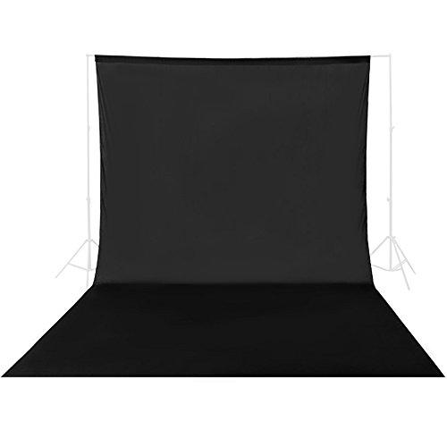 UTEBIT 撮影用 バックグラウンド 3 x 3.6 cm 背景布 黒 布 100% 綿 織物 写真 背景 撮影 スタジオ用 無地 生地 高品質 背景紙 人物 商品 撮影対応 布バック 暗幕 ブラック 300 x 360cm 写真撮影 ビデオ撮影