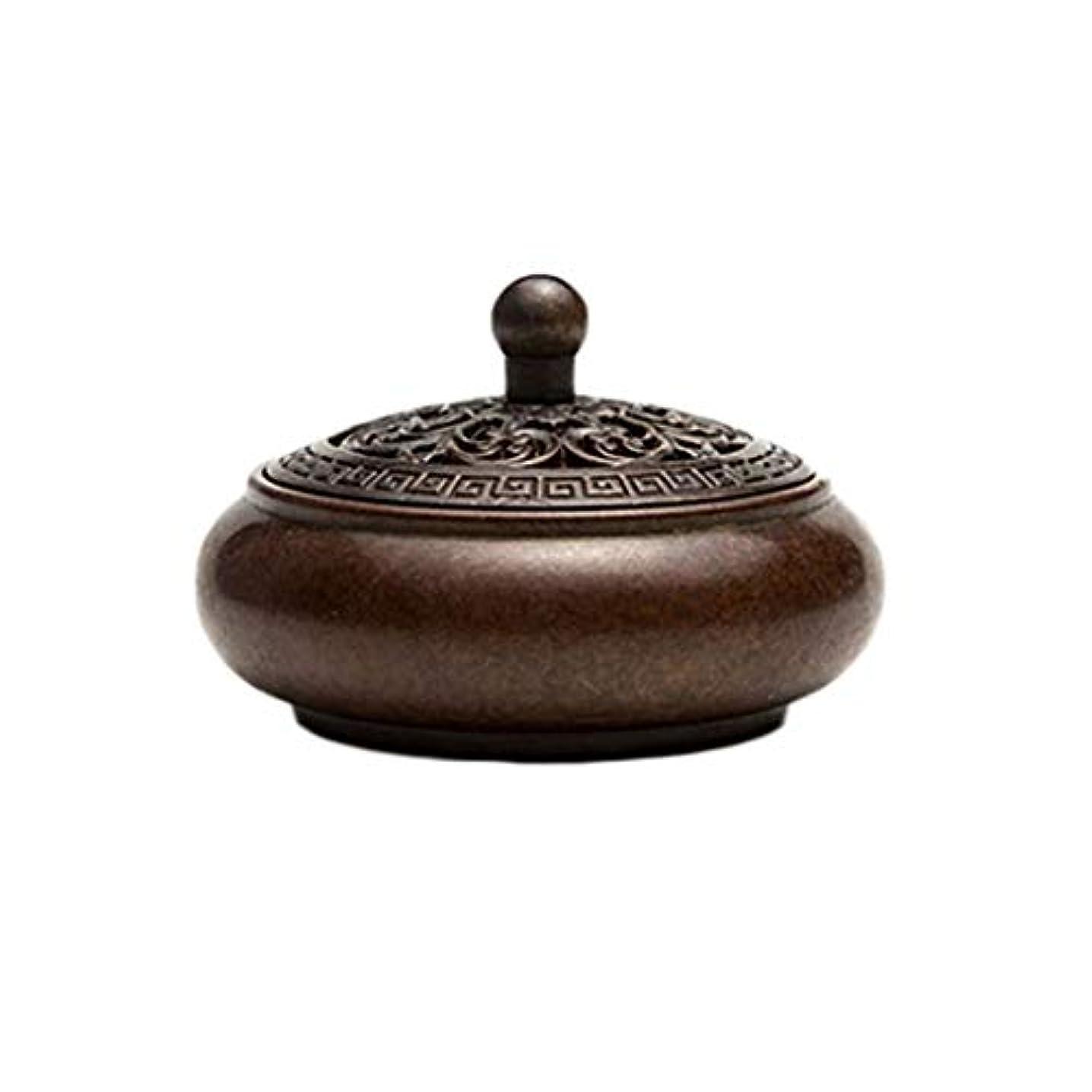 通り抜ける仲人必要とする芳香器?アロマバーナー 純粋な銅板香バーナー銅アンティーククサンデ銅炉小さな香バーナー白檀炉 芳香器?アロマバーナー (Color : Naturals)