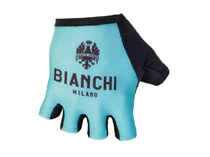 軸一般的に危険にさらされているBIANCHI MILANO (ビアンキ ミラノ) サイクルグローブ DIVOR (CELESTE BIANCHI/4300) ショートフィンガーグローブ Mサイズ