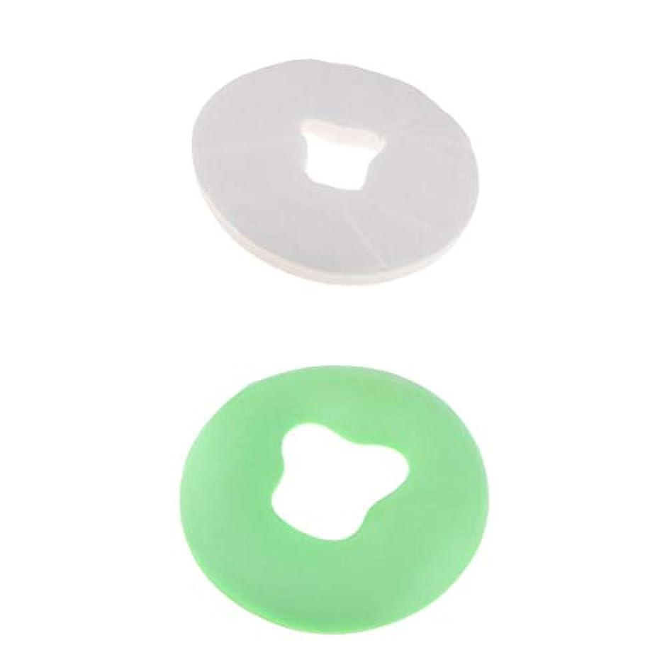 Fenteer マッサージ枕 顔枕 シリコン枕 フェイスマット 枕カバー付き 使い捨て 100個 美容院 家庭用