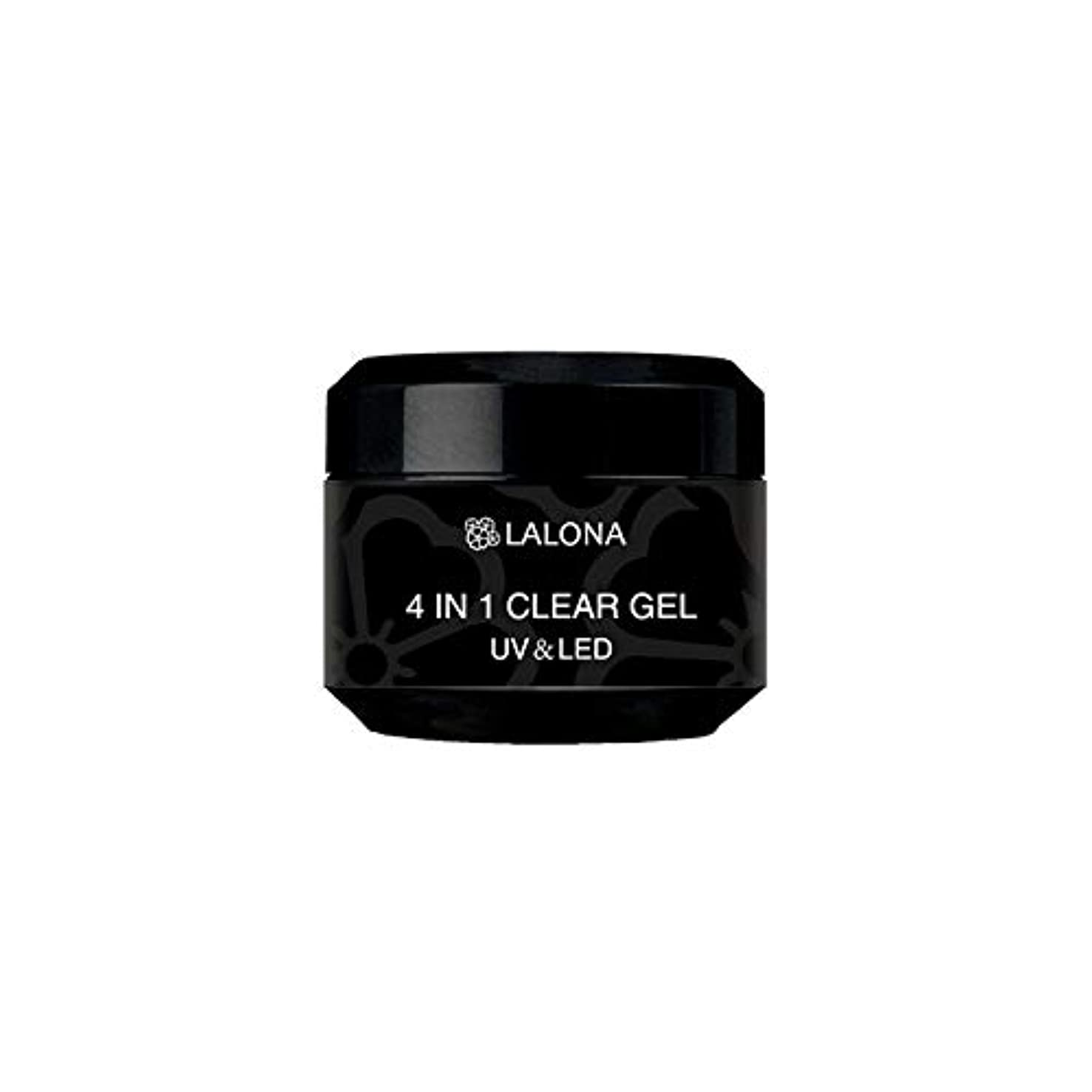 別れるホールドオールを通してLALONA [ ラローナ ] 4in1クリアジェル (30g) ジェルネイル セミハード オールインワンジェル ベース トップ 長さだし 多機能ジェル