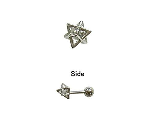 [해외]i.axe18G 트라이앵글 바디 피어싱 연골 귀걸이/i.axe 18G triangle body piercing cartilage earrings