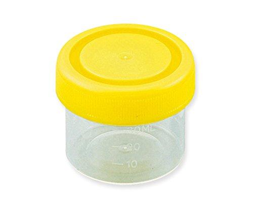 アズワン 標本容器 40mL フタ黄 8-2259-02 1セット(200個:100個×2箱)