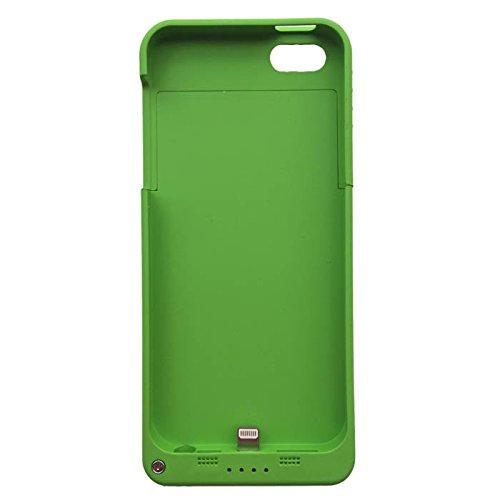 iPhone5S / iPhone5 対応 ケース一体型バッテリー バッテリーケース 大容量2200mAh daiyo (グリーン)