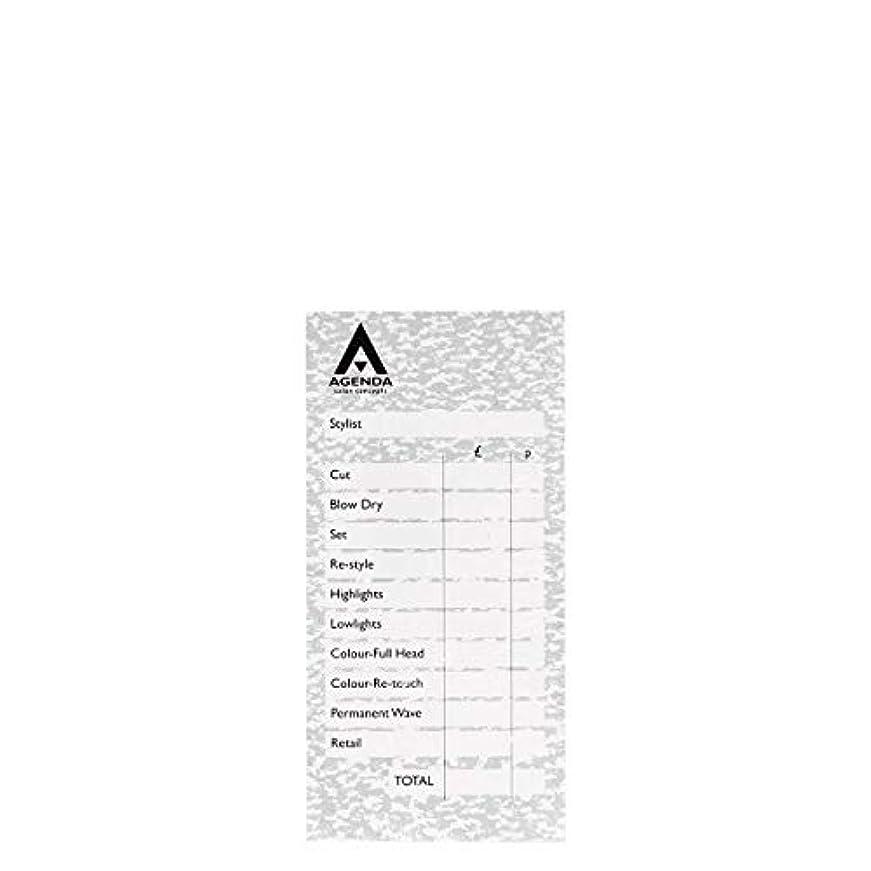 黙上記の頭と肩配管アジェンダ サロンコンセプト チェックパッドグレー6x100リーフ[海外直送品] [並行輸入品]