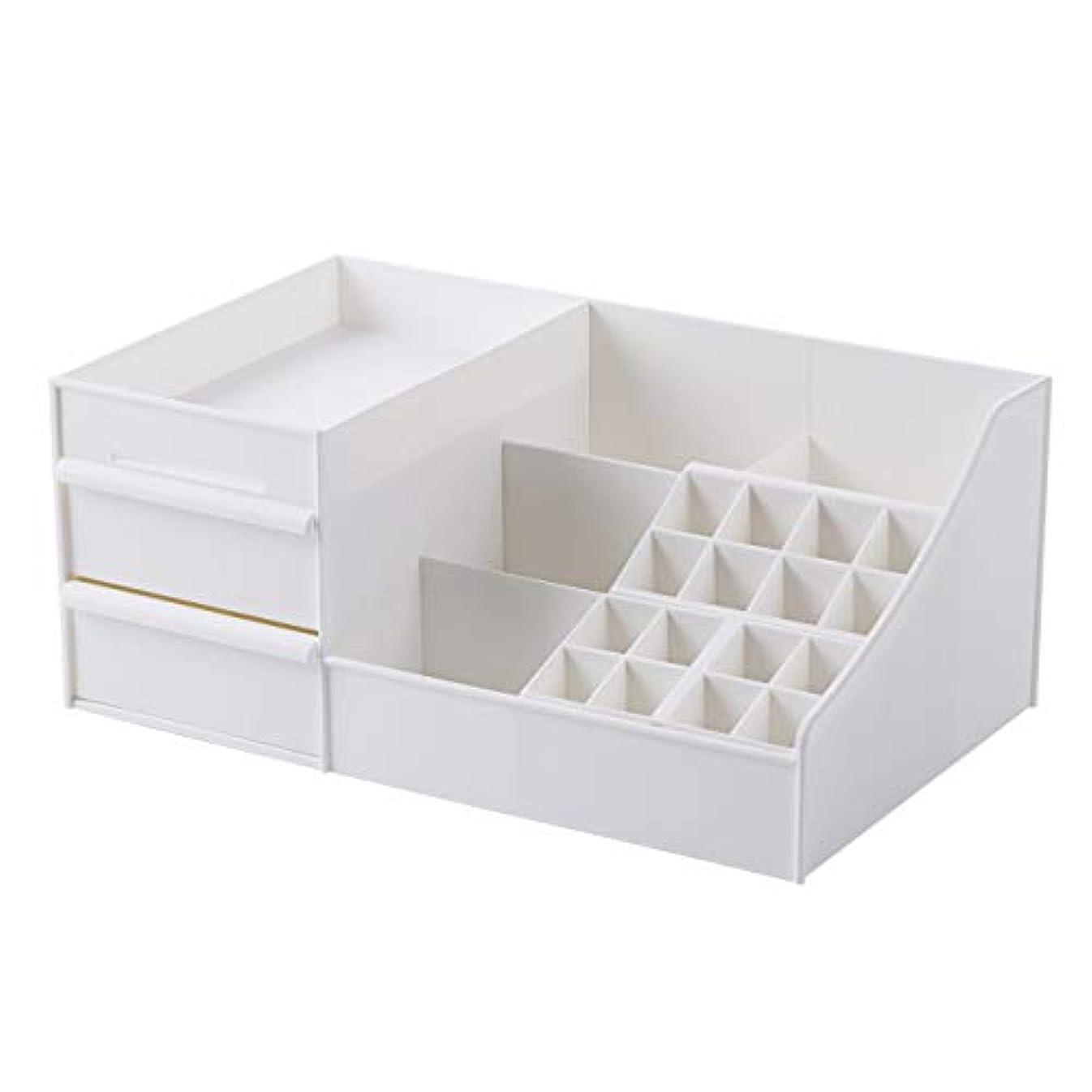 ラジエーター自動化ましい[Shinepine] 化粧品収納ボックス 引き出し 仕切り収納 メイク収納 小物収納 スタンド 化粧品入れ メイクケース 卓上小物入れ メイク収納ケース アクセサリーボックス (#1 口紅収納 白)