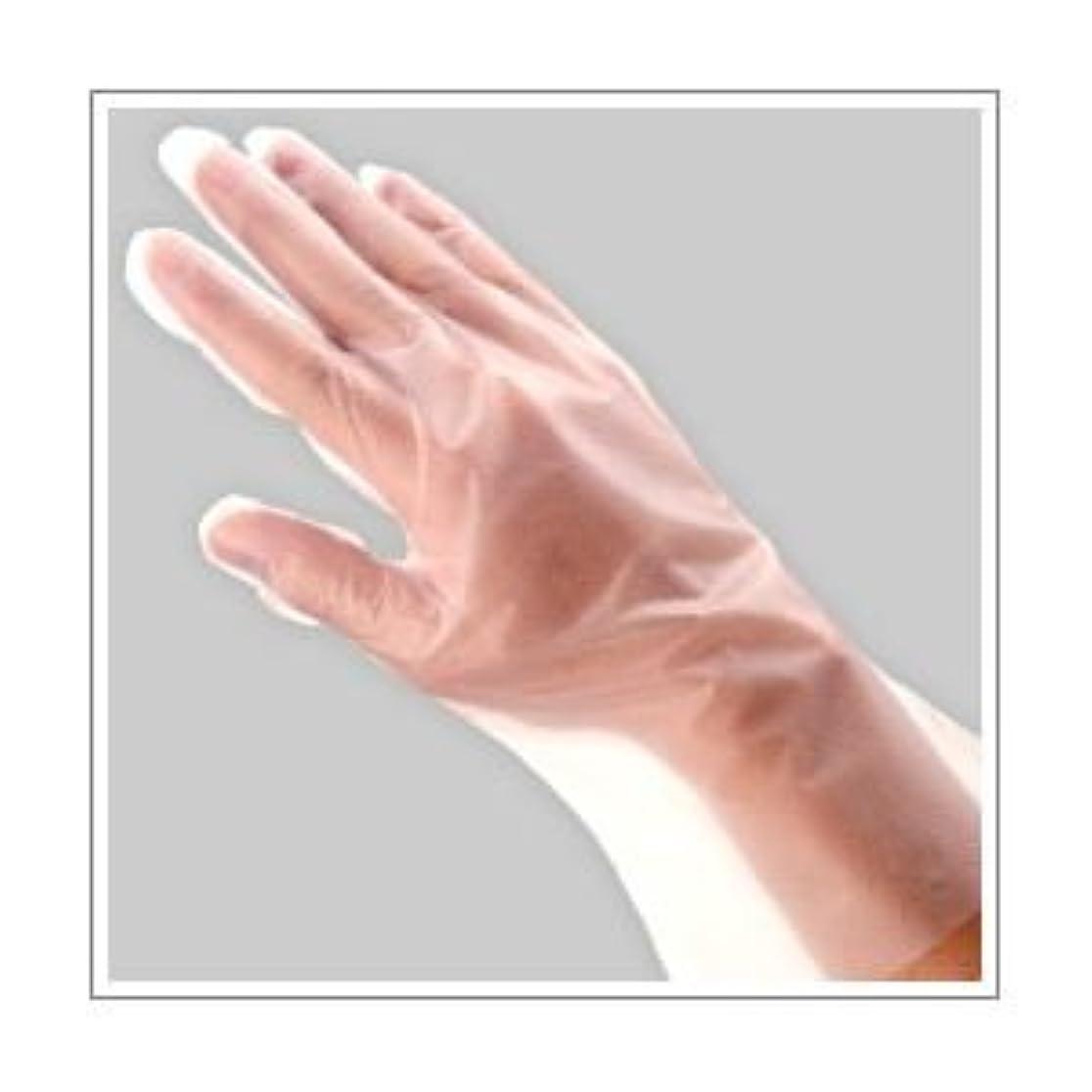 うれしい湿原形(業務用セット) 福助工業 ポリ手袋 指フィット 100枚パック L 【×10セット】