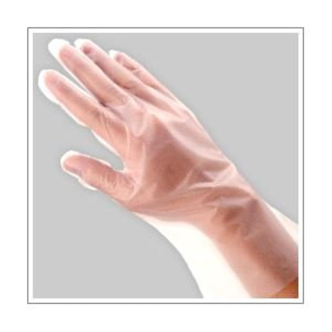 ブースト端末震える福助工業 ポリ手袋 指フィット 100枚パック L ×10セット
