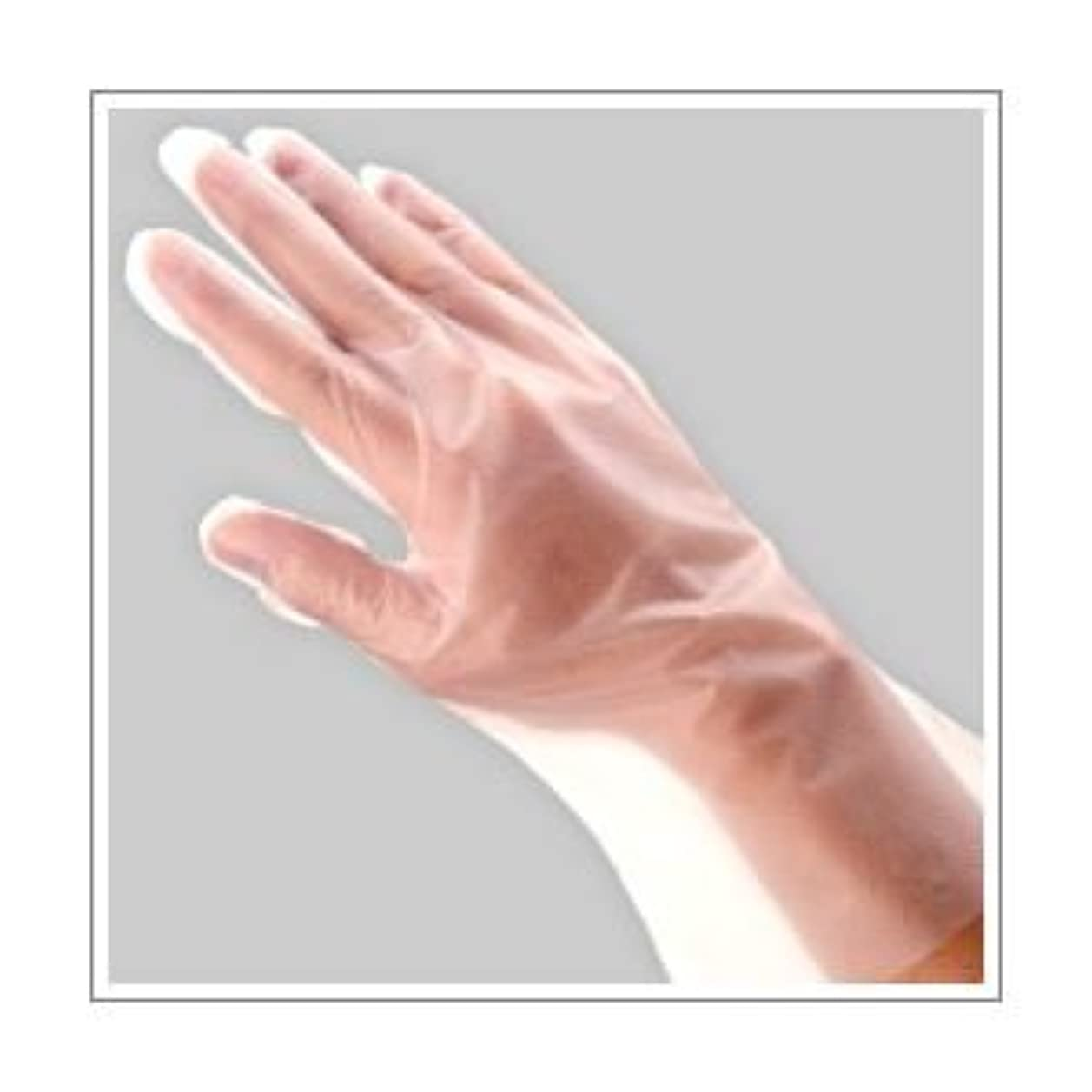 湖可塑性いっぱい(業務用セット) 福助工業 ポリ手袋 指フィット 100枚パック L 【×10セット】 dS-1640685
