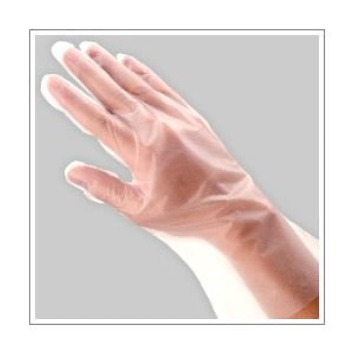 どんよりした振るう人差し指(業務用セット) 福助工業 ポリ手袋 指フィット 100枚パック L 【×10セット】