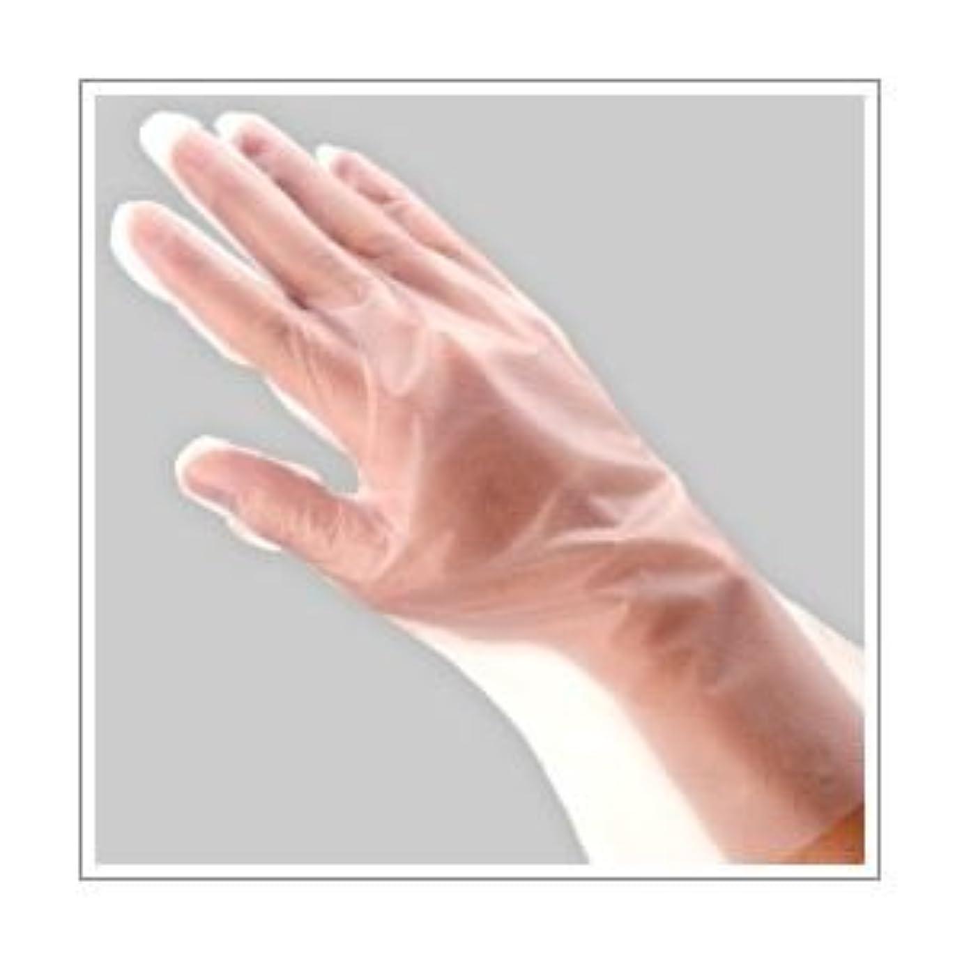 メーター歯科医解放(業務用セット) 福助工業 ポリ手袋 指フィット 100枚パック L 【×10セット】