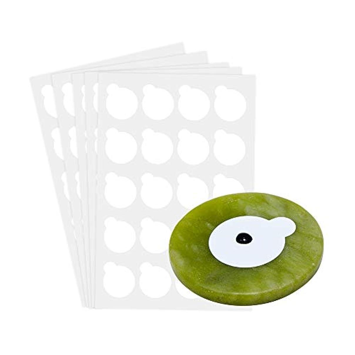 宿泊成果乱暴なNAGARAKU 5 sheets and 1stone eyelash extensions glue holder jade stone holder glue pallet glue stand pads for...