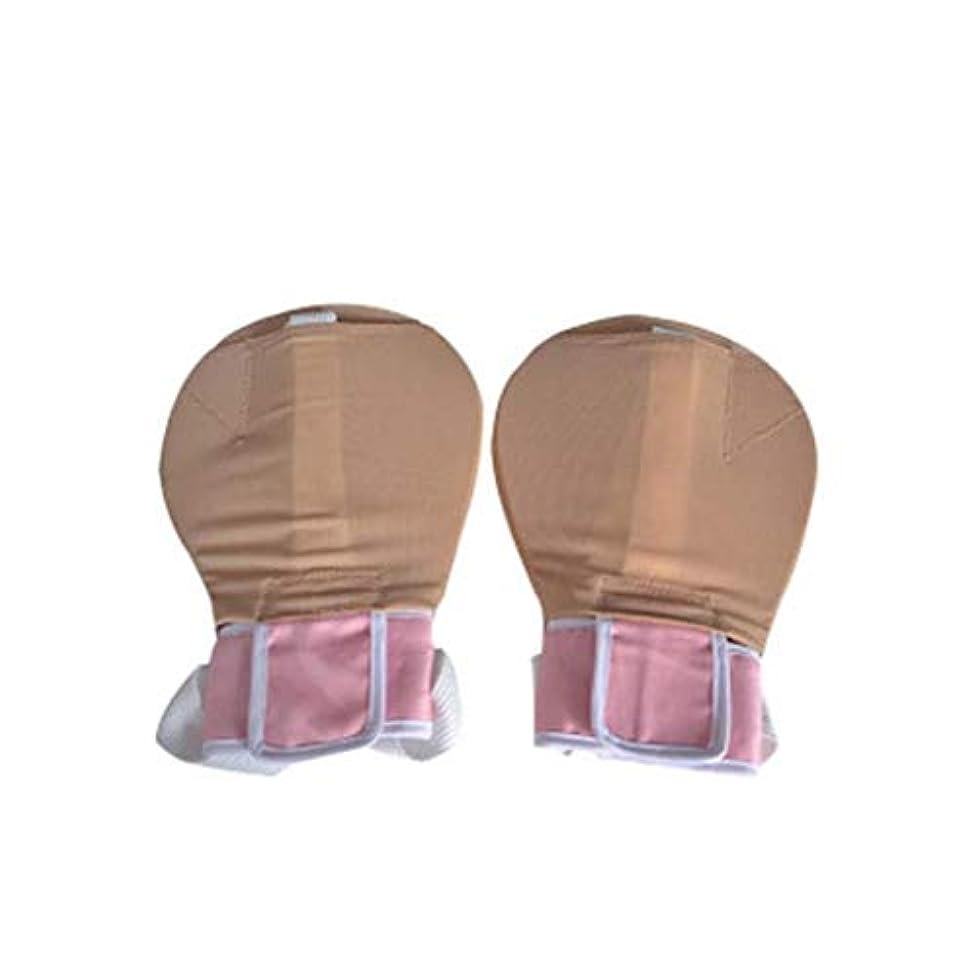 ジョットディボンドン通知する食堂フィンガーコントロールミット - 拘束手袋フィンガーコントロールミット手の感染プロテクター手の固定手袋安全性ユニバーサル固定 (Size : L)