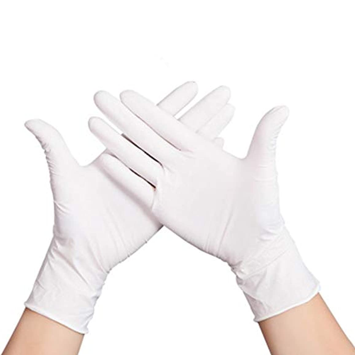 スカルク非公式送る使い捨て白手袋ニトリル手袋by 50ペア、食品、ケータリング、家事、仕事、入れ墨、保護、ゴム、ラテックス手袋、商業用